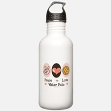 Peace Love Water Polo Sports Water Bottle
