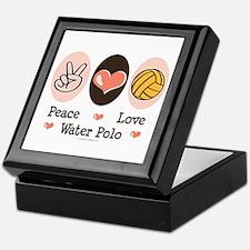 Peace Love Water Polo Keepsake Box