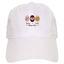 Peace Love Water Polo Baseball Cap