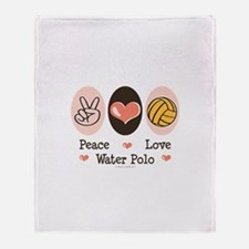 Peace Love Water Polo Throw Blanket
