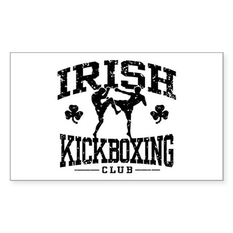 Irish Kickboxing Sticker (Rectangle)