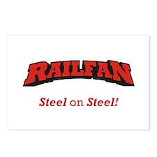 Railfan / Steel Postcards (Package of 8)