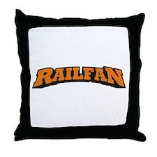Railfan Throw Pillow