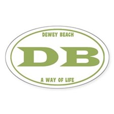 Dewey Beach Euro Decal