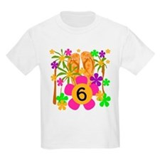 Luau 6th Birthday Kids T-Shirt