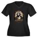 King of Kings Women's Plus Size V-Neck Dark T-Shir