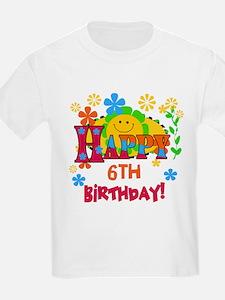 Joyful 6th Birthday Kids T-Shirt