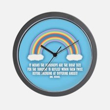 Double Rainbow Meaning Wall Clock