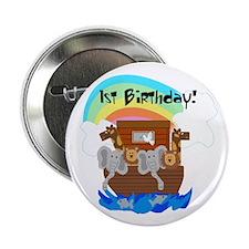 Noah's Ark 1st Birthday Button