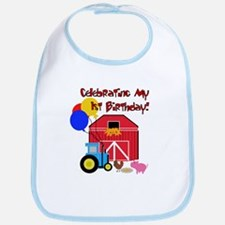 Farm First Birthday Bib