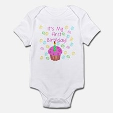 Cupcake First Birthday (Pink) Infant Creeper