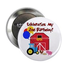 Farm 2nd Birthday Button