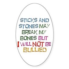 Sticks and Stones Oval Decal