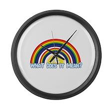 Double Rainbow Large Wall Clock