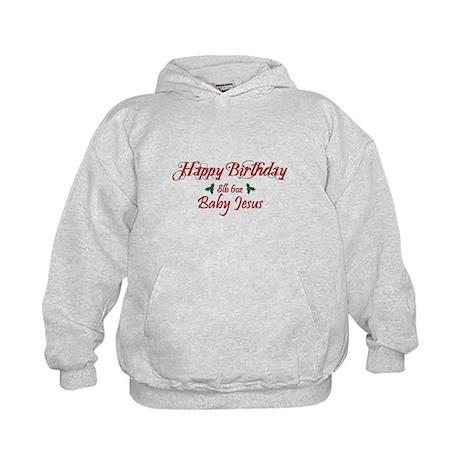 Happy Birthday Baby Jesus Kids Hoodie