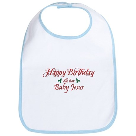 Happy Birthday Baby Jesus Bib