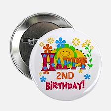 Joyful 2nd Birthday Button
