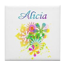 Alicia Floral Tile Coaster