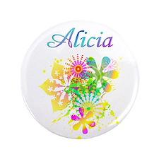 """Alicia Floral 3.5"""" Button"""