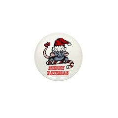 Merry Ratsmas Mini Button