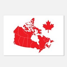 Canada Map Postcards (Package of 8)