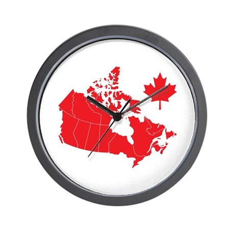 Canada Map Wall Clock