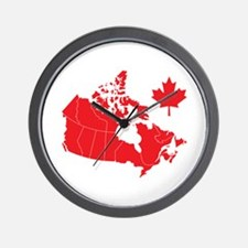 Canada Map Wall Clock