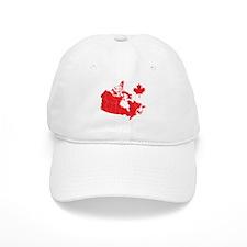 Canada Map Baseball Cap