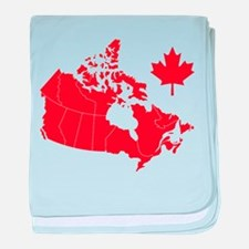 Canada Map baby blanket