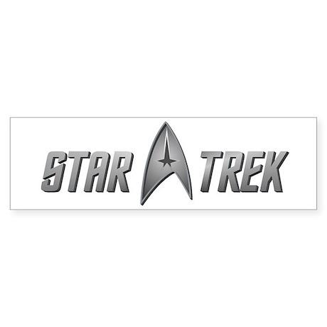 Star Trek light silver Sticker (Bumper)