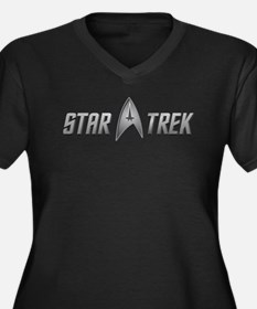 Star Trek light silver Women's Plus Size V-Neck Da