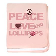 Peace love & Lollipops baby blanket