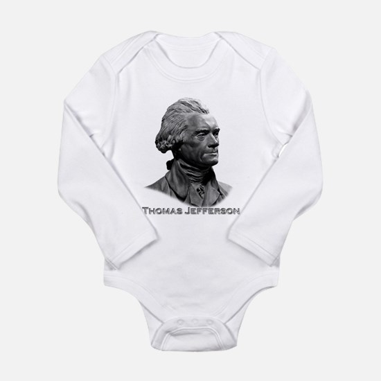 Thomas Jefferson Long Sleeve Infant Bodysuit