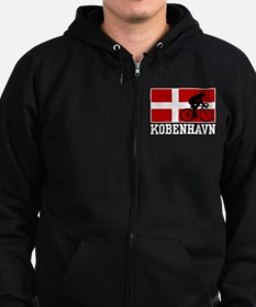 Kobenhaven Cycling Male Zip Hoodie (dark)