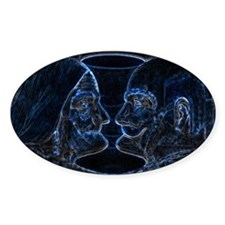 ILLUSION 17 Oval Decal