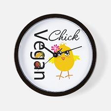 Vegan Chick Wall Clock