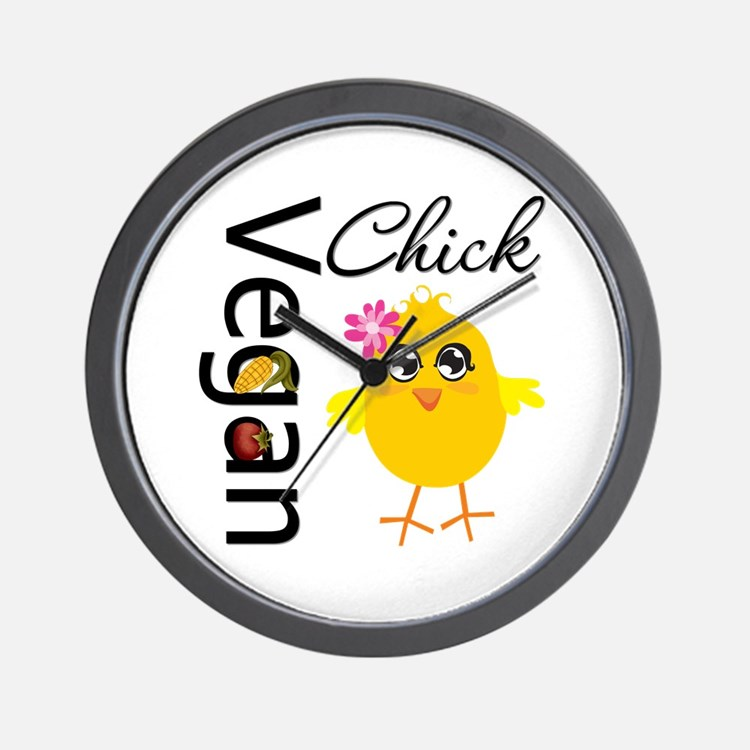 Vegan Chick Wall Clock