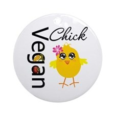 Vegan Chick Ornament (Round)