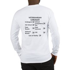 Veterinarian Checklist Long Sleeve T-Shirt