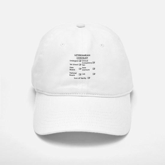 Veterinarian Checklist Baseball Baseball Cap
