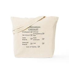Veterinarian Checklist Tote Bag