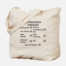 Veterinarian Checklist Tote Bag