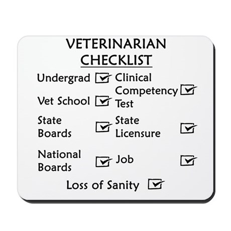 Veterinarian Checklist Mousepad