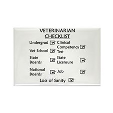 Veterinarian Checklist Rectangle Magnet