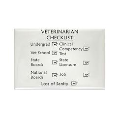 Veterinarian Checklist Rectangle Magnet