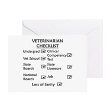 Veterinarian Checklist Greeting Card