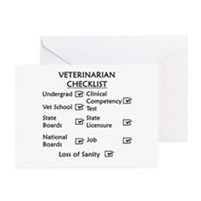 Veterinarian Checklist Greeting Cards (Pk of 20)