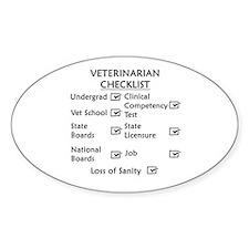 Veterinarian Checklist Decal
