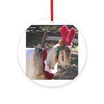 Christmas Goat Ornament (Round)