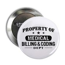 """Medical Billing and Coding 2.25"""" Button"""